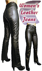 Women's Leather Jeans