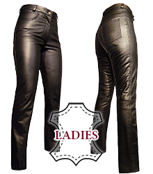 Ladies Leather Jeans